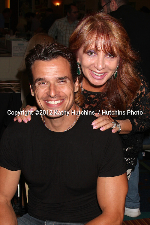 """LOS ANGELES - AUG 4:  Antonio Sabato Jr, mother appearing at the """"Hollywood Show"""" at Burbank Marriott Convention Center on August 4, 2012 in Burbank, CA"""