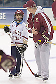 Jacob Paluch, Jerry York - The Boston College Eagles practiced at the Bradley Center in Milwaukee, Wisconsin, on April 7, 2006 in preparation for the 2006 Frozen Four Final game vs. the University of Wisconsin on April 8, 2006.
