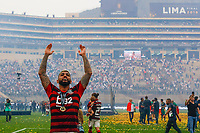 Gabriel Barbosa Gabigol celebrate wins after the 2019 Copa Libertadores Final between Flamengo of Brazil and River Plate of Argentina at Estadio Monumental U in Lima, Peru on 23 Nov 2019. PUBLICATIONxNOTxINxBRA<br /> Photo Imago/Insidefoto