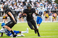 CONWAY VS BENTONVILLE  - Preston Crawford of Bentonville runs down the field against Conway at Tiger Stadium, Bentonville, AR, on Friday September 6. 2019,   Special to NWA Democrat-Gazette/ David Beach