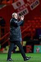 Charlton Manager, Lee Bowyer, who watched the match from the Main Stand due to a touchline ban, applauds the home fans after the match during Charlton Athletic vs Burton Albion, Sky Bet EFL League 1 Football at The Valley on 12th March 2019