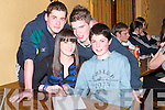 CHIARRAI: Writing the answers down on Thursday night at Gaelcholaiste Chiarrai Table Quiz at Stokers Lodge, Tralee