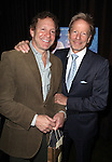 Old friends Steve Guttenberg & Peter Strauss attending the Off- Broadway Opening Night Performance After Party for the Delaware Theatre Company Production of 'The Outgoing Tide'  at Lavo in New York City on 11/20/2012.