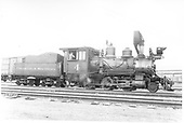 Engineer's-side view of C&amp;S #4 at Denver.<br /> C&amp;S  Denver, CO  Taken by Perry, Otto C. - 1927