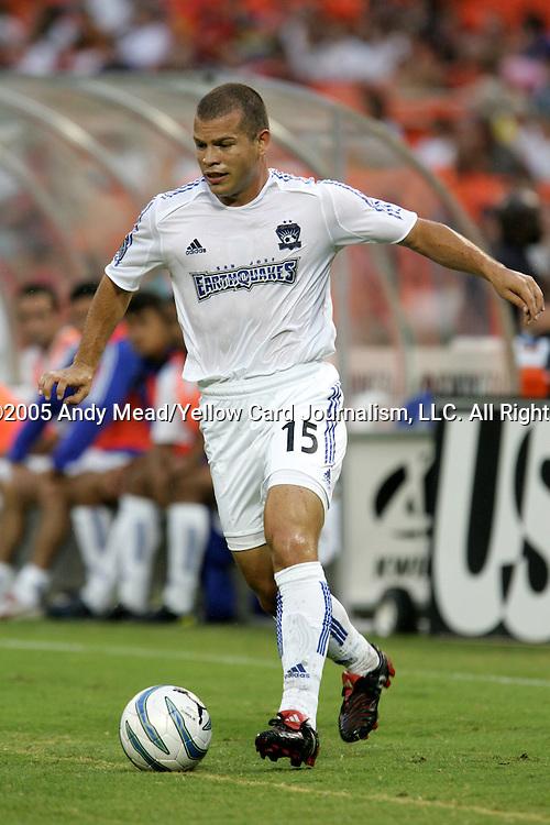 15 July 2005: Alejandro Moreno. DC United defeated the San Jose Earthquakes 3-0 at RFK Stadium in Washington, DC in a regular season Major League Soccer game.