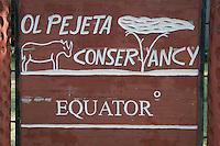Entrance to Olpejeta conservancy, Kenya