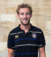 Performance Analyst Henry Mander poses for a portrait at a Bath Rugby photocall. Bath Rugby Media Day on September 8, 2015 at Farleigh House in Bath, England. Photo by: Rogan Thomson for Onside Images