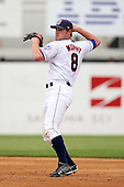 July 7th 2008:  Second baseman Daniel Murphy of the Binghamton Mets, Class-AA affiliate of the New York Mets, during a game at NYSEG Stadium in Binghamton, NY.  Photo by:  Mike Janes/Four Seam Images