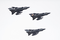 2019 02 20 RAF Tornado aircraft fly past Pembrey, Wales, UK