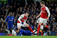 Chelsea's Eden Hazard is brought down by Granit Xhaka of Arsenal during Chelsea vs Arsenal, Caraboa Cup Football at Stamford Bridge on 10th January 2018