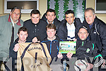 Killarney Celtic and Friends of the late Alex Schober who are holding a charity match on the 23 November in memory of the former Celtic goalkeeper who passed away tragically earlier this year front row l-r: Alan O'Brien, Vladimir Sirotiak, Neilus Hayes, Back row: Padraig Hartnett, Bernie Riordan, JC Angre, Peter Bulichoi, and Noel Brosnan ....