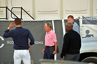 MIAMI BEACH, FL - APRIL 07: (EXCLUSIVE COVERAGE) Billionaire and former Mayor of New York Michael Bloomberg is seen leaving horse jumping with daughters Emma Bloomberg, Georgina Bloomberg along with her son Jasper Michael Brown Quintana and her boyfriend Carlos Arruza Jr at the Longines Global Champions Tour stop day 3 in Miami Beach on April 7, 2018 in Miami Beach, Florida.<br /> People:  Michael Bloomberg, Carlos Arruza Jr <br /> CAP/MPI122<br /> &copy;MPI122/Capital Pictures