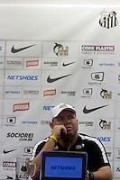 SANTOS - 03 DE ABRIL DE 2015 - CT REI PELÉ - COLEITVA DE IMPRENSA - SANTOS FC - MARCELO FERNANDES.<br /> <br /> O tecnico do Santos concede entrevista coletiva no CT Rei Pelé nesta sexta-feira 03/04. A equipe se para para enfrentar o Corunthins neste domingo pelo Campeonato Paulista. <br /> <br /> Foto: Flavio Hopp/Brazil Photo Press )