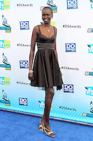 SANTA MONICA, CA - AUGUST 19: Alek Wek at the 2012 Do Something Awards at Barker Hangar on August 19, 2012 in Santa Monica, California. Credit: mpi21/MediaPunch Inc. /NortePhoto.com<br />
