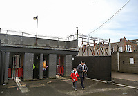 General view of the Stadium - Home supporters arrive  ahead of the Sky Bet League 2 match between Grimsby Town and Wycombe Wanderers at Blundell Park, Cleethorpes, England on 4 March 2017. Photo by Andy Rowland / PRiME Media Images.