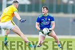 Tom O'Sullivan, Kerry in action against Liam Kearney, Kerry during the Allianz Football League Division 1 Round 4 match between Kerry and Meath at Fitzgerald Stadium in Killarney, on Sunday.