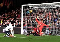 Tottenham Hotspur Son Heung-Min scores his side's second goal <br /> <br /> Photographer David Horton/CameraSport<br /> <br /> The Premier League - Bournemouth v Tottenham Hotspur - Sunday 11th March 2018 - Vitality Stadium - Bournemouth<br /> <br /> World Copyright &copy; 2018 CameraSport. All rights reserved. 43 Linden Ave. Countesthorpe. Leicester. England. LE8 5PG - Tel: +44 (0) 116 277 4147 - admin@camerasport.com - www.camerasport.com