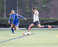 Allston, Massachusetts - May 28, 2014:  The Boston Breakers (blue) defeated the Portland Thorns FC (white/black), 4-1 in a National Women's Soccer League Elite (NWSL) match at Harvard Stadium.