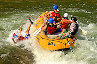 Whitewater rafting at the US National Whitewater Center, located in Charlotte, NC. USNWC is home to the world's largest man-made recirculating river. The center offers family rafting, adventure rafting, and rodeo rafting adventures on Class II, Class III and Class IV whitewater rapids. Patrick Schneider Photography has an extensive collection of images from the USNWC. Call or email for assistance.