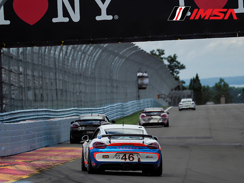 IMSA WeatherTech SportsCar Championship<br /> Sahlen's Six Hours of the Glen<br /> Watkins Glen International, Watkins Glen, NY USA<br /> Saturday 1 July 2017<br /> 46, Porsche, Porsche Cayman GT4, GS, Ted Giovanis, Guy Cosmo<br /> World Copyright: Michael L. Levitt/LAT Images