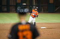 AZL Giants center fielder Heliot Ramos (31) hustles towards third base against the AZL Padres 2 on July 13, 2017 at Scottsdale Stadium in Scottsdale, Arizona. AZL Giants defeated the AZL Padres 2 11-3. (Zachary Lucy/Four Seam Images)