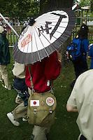 World Scout Jamboree 2007, japanskt paraply, japan, japansk ryggsäck, japansk flagga