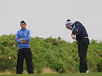 Michael Sheil (Galway Bay) on the 17th tee during the Connacht Semi-Final of the AIG Barton Shield at Galway Bay Golf Club, Galway, Co Galway. 11/08/2017<br /> Picture: Golffile | Thos Caffrey<br /> <br /> <br /> All photo usage must carry mandatory copyright credit     (&copy; Golffile | Thos Caffrey)