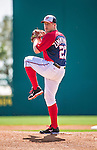 11 March 2014: Washington Nationals pitcher Jordan Zimmermann on the mound during a Spring Training game against the New York Yankees at Space Coast Stadium in Viera, Florida. The Nationals defeated the Yankees 3-2 in Grapefruit League play. Mandatory Credit: Ed Wolfstein Photo *** RAW (NEF) Image File Available ***
