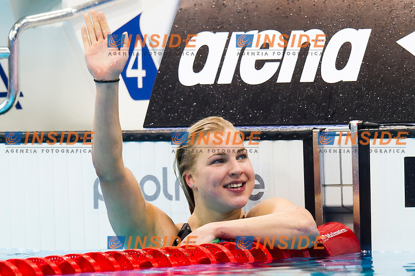 MEILUTYTE Ruta LTU gold medal<br /> London, Queen Elizabeth II Olympic Park Pool <br /> LEN 2016 European Aquatics Elite Championships <br /> Swimming<br /> Women's 100m breaststroke final  <br /> Day 10 18-05-2016<br /> Photo Giorgio Perottino/Deepbluemedia/Insidefoto