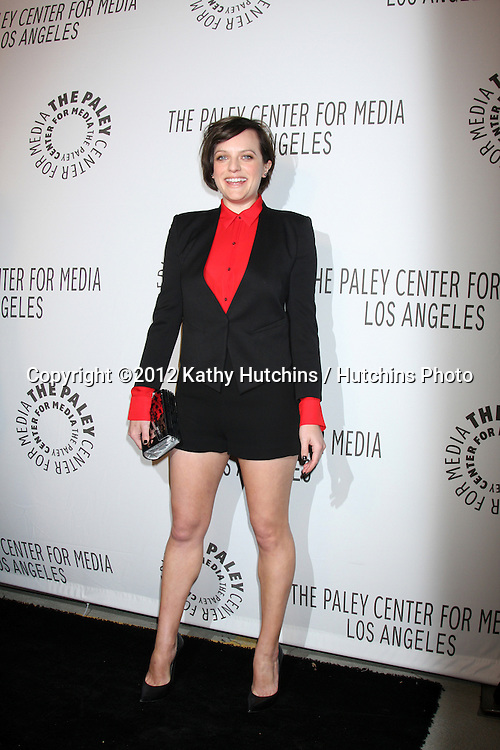 LOS ANGELES - OCT 22:  Elisabeth Moss arrives at  the Paley Center for Media Annual Los Angeles Benefit at The Lot on October 22, 2012 in Los Angeles, CA