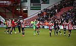 The players take in the crowds applause during the English League One match at Bramall Lane Stadium, Sheffield. Picture date: December 31st, 2016. Pic Simon Bellis/Sportimage
