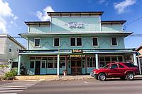 Bamboo Restaurant & Bar in an old building in Hawi, Big Island.