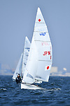 Ai Yoshida &  Miho Yoshioka (JPN), <br /> AUGUST 31, 2018 - Sailing : Women's 470 Race at Indonesia National Sailing Center during the 2018 Jakarta Palembang Asian Games in Jakarta, Indonesia. <br /> (Photo by MATSUO.K/AFLO SPORT)