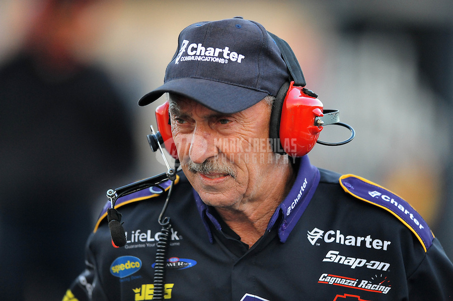 Jul. 24, 2009; Sonoma, CA, USA; NHRA former pro stock driver Jerry Eckman during qualifying for the Fram Autolite Nationals at Infineon Raceway. Mandatory Credit: Mark J. Rebilas-