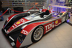 The Audi R10 race car at the grand opening celebration of Audi Central Houston Thursday March 6, 2014.(Dave Rossman photo)