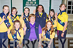 GIRLGUIDS: Promoted from Brownies to girlguilds on Thursday night at Columbus Centre Kilflynn with their leaders. Front l-r:Kelly Tobin, Mary O'Callaghan (Brownie Owl) and Sarah Buckley. Back l-r: Alys Griffin, Jennifer Leonard, Chloe Leonard, Maria O'Sullivan (leader), Emily O'Callaghan and Oliva Carmody. Missing was Aine O'Sullivan..........