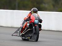 Mar 17, 2019; Gainesville, FL, USA; NHRA pro stock motorcycle rider Angelle Sampey during the Gatornationals at Gainesville Raceway. Mandatory Credit: Mark J. Rebilas-USA TODAY Sports