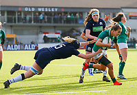 2nd February 2020; Energia Park, Dublin, Leinster, Ireland; International Womens Rugby, Six Nations, Ireland versus Scotland; Aoife Doyle of Ireland tries to make a break to the try line