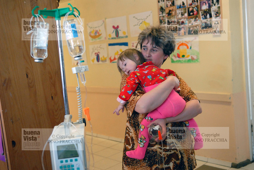 - 20 years from the nuclear incident of Chernobyl, pediatric oncologic hospital of Kiev, sick children victims of the radiations....- 20 anni dall'incidente nucleare di Chernobyl, ospedale oncologico pediatrico di Kiev, bambini ammalati vittime delle radiazioni