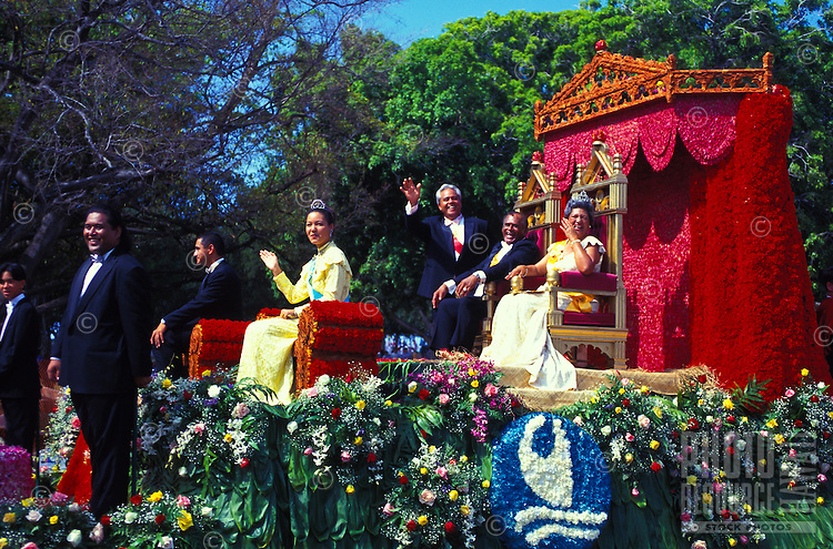 Royal Court float in the Aloha Festivals Parade, a yearly event in Honolulu