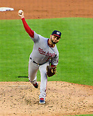 Washington Nationals starting pitcher Anibal Sanchez (19) works on the third inning against the Detroit Tigers at Comerica Park in Detroit, Michigan on Friday, June 28, 2018.  The Nationals won the game 3 - 1.<br /> Credit: Ron Sachs / CNP