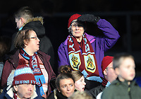 Burnley fans <br /> <br /> Photographer Ashley Crowden/CameraSport<br /> <br /> The Premier League - Crystal Palace v Burnley - Saturday 13th January 2018 - Selhurst Park - London<br /> <br /> World Copyright &copy; 2018 CameraSport. All rights reserved. 43 Linden Ave. Countesthorpe. Leicester. England. LE8 5PG - Tel: +44 (0) 116 277 4147 - admin@camerasport.com - www.camerasport.com