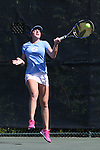 24 April 2016: Chloe Ouellet-Pizer. The University of North Carolina Tar Heels played the University of Miami Hurricanes at the Cary Tennis Center in Cary, North Carolina in the Atlantic Coast Conference Women's Tennis Tournament Championship. North Carolina won the match 4-2.