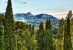 Early morning view to the northeast from the ramparts of Saint Paul de Vence