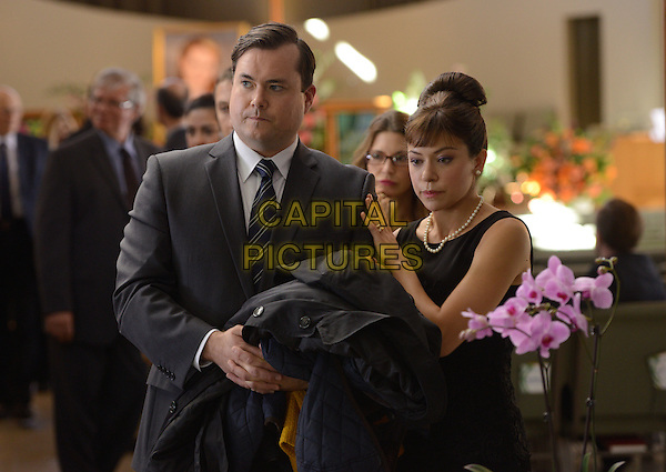 Kristian Bruun, Tatiana Maslany<br /> in Orphan Black (Season 2)<br /> *Filmstill - Editorial Use Only*<br /> CAP/FB<br /> Image supplied by Capital Pictures