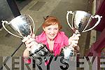ON A WINNER: Katelyn Galvin from Killerisk, Tralee won two cups at Feis Maitiu in Cork last week.
