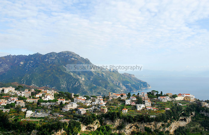 Ravello overlooking sea, Amalfi Coast, Italy