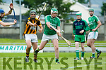 In Action Abbeydorney's Mike Hanafin and Ballyduff's Michael Hussey at the Garvey's Supervalu Senior County Hurling Championship - Round 1 Abbeydorney Vs Ballyduff at Austin Stack Park on Saturday