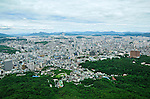 View of the city of Seoul, South Korea.