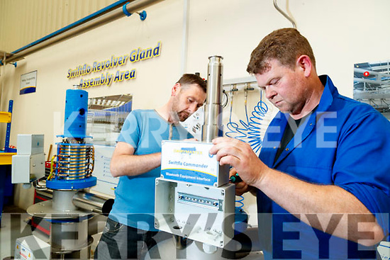 Giles Legg (Supervisor) and Ger Griffin (Gland Technician) at Dairymaster, Causeway.